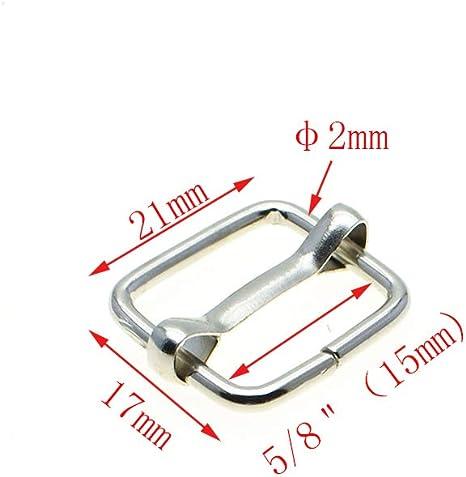 Metal Slider Tri-glides Wire-formed Roller Pin Buckle Strap Adjuster Harness