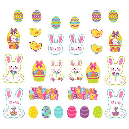 Egg-stra Adorable Easter Party Assorted Mini Cutouts Decorations, Paper, Pack of 30