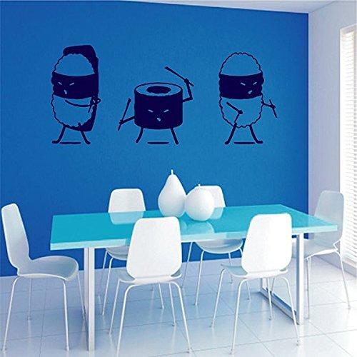 Amazon.com: ik2795 Wall Decal Sticker Funny Ninja Sushi Bar ...