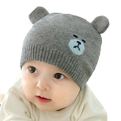 Sunscreen Baby Costume (Reian Unisex Infant Baby Knit Cotton Hat Soft Warm Beanies Cap (Dark Gray))