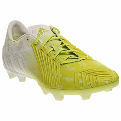 adidas Mens Predator Instinct FG Firm Ground Hunt Soccer Shoe 7 US, White /Glo