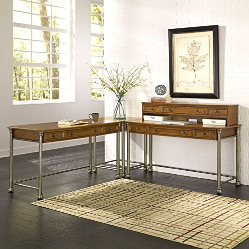Home Styles Model 5061-1527 The Orleans Corner 'L' Desk, Vintage Caramel Finish by Home Styles