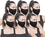 6 Pack Fabric Face Mask Reusable Double Fabric Layers - Made in USA (6 Pack)