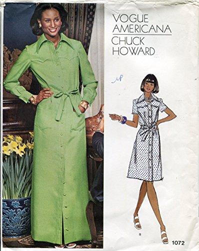 Vogue Americana Pattern 1072 Chuck Howard, Misses' Dress
