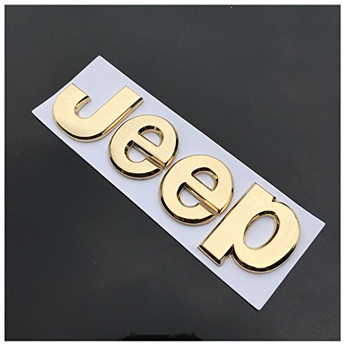 Flat Matte Black JEEP Emblem Logo Stickers Cherokee Wrangler Unlimited (6x1.6