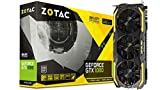 ZOTAC GeForce GTX 1080 AMP! Extreme, ZT-P10800B-10P, 8GB GDDR5X IceStorm Cooling, Metal Wraparound Carbon ExoArmor exterior, Dual-blade EKO Fan Gaming Graphics Card