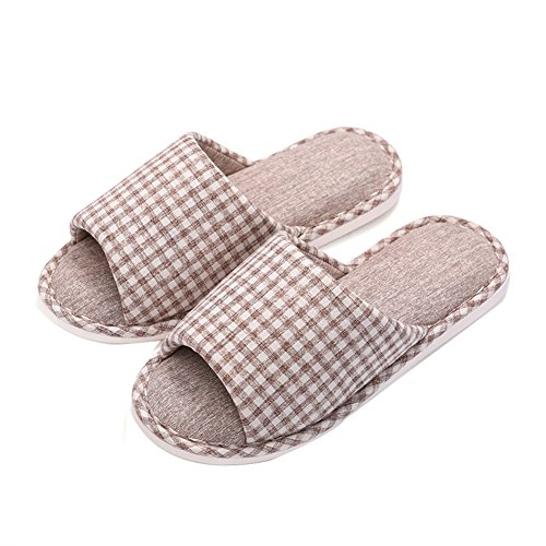 Mecabiu Hombres Fashion Washable Winter Slip On Cosy House Slippers Coffee