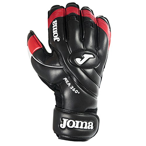 Surround Goalkeeper Glove (Joma AREA 360° Fingersave Protection Goalkeeper Gloves (Black/Red) - Size 8)
