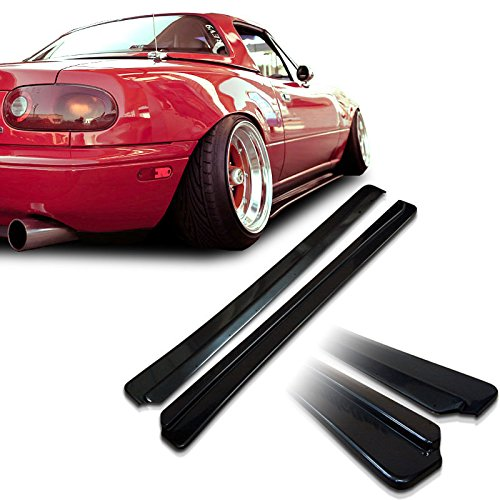 Mazda Miata NA MX5 Feed Underline Style Urethane Side Skirt Extensions For 90-97 Models (Fiberglass Skirt Side)