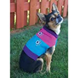 Fashion Pet Lookin Good Four Paws Crewneck Sweater for Dogs, Medium, Turquoise