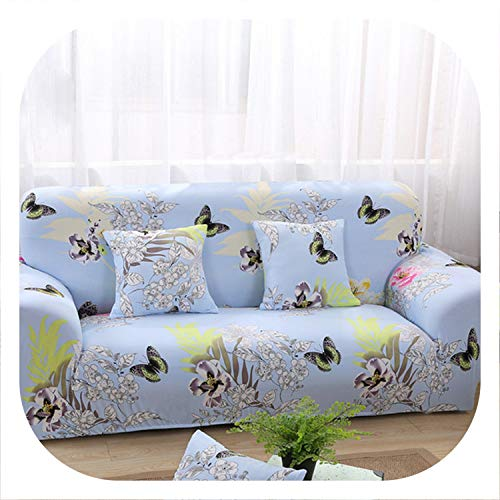Memoirs- 1pc High Elastic Sofa Cover Printed All-Inclusive Non-Slip Covers for Sofas Full Cover Fabric Universal Sofa Towel,Color 16,45-45cm Pillowcase-2 (Cheap Furniture Wicker Ebay)