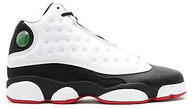 new concept aa5f6 cd0a2 Herren Damen Air Jordan 13 He Got Game 414571-104 White Black Laufschuhe