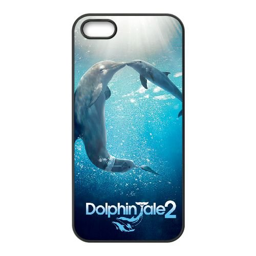 Dolphin Tale 2 1 coque iPhone 4 4S cellulaire cas coque de téléphone cas téléphone cellulaire noir couvercle EEEXLKNBC24651