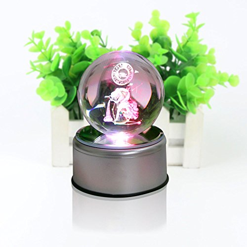 3D Crystal Ball Constellation Gift LED Lighting Astronomy Nebula 7 Colors Optical Illusion 3D Lamp Laser Engraving Valentine Children's Day (Aquarius)
