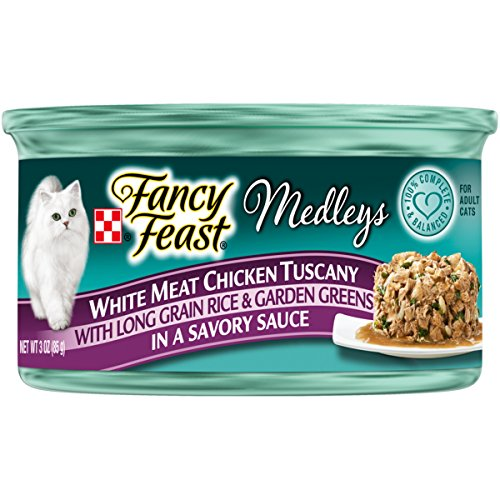 Purina Fancy Feast White Meat Chicken Tuscany Cat Food - (24) 3 oz. Pull-top - Cat Elegant