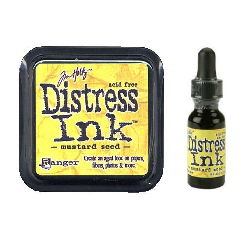 Tim Holtz Distress Rubber Stamp Ink Pad & Re-inker Mustard ()