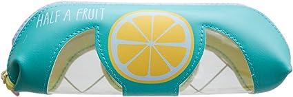 fablcrew Pencil Case Estuche vacío, estuche para lápices, bolsa para herramientas para maquillaje cosmetico 21.5 * 4.5 * 8 cm, monedas de estilo fruta verde: Amazon.es: Oficina y papelería