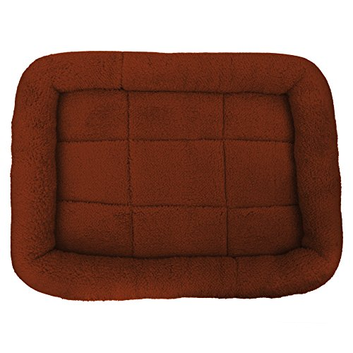 Diamondo Pet Bed Cushion Mat Pad Dog Cat Cage Kennel Crate Warm Cozy Soft House (Coffee, S: 28427cm/11.0216.532.75'')
