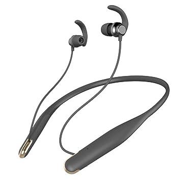 iBaste Auriculares Inalámbricos Bluetooth,Auriculares Deportivos Colgantes de Cuello para Correr Fitness Ciclismo Auricular Impermeable en La Oreja: ...