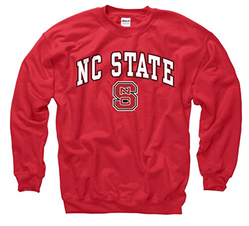 (Campus Colors NC State Wolfpack Arch & Logo Gameday Crewneck Sweatshirt - Red, XX-Large)