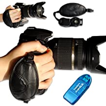 first2savvv new Artificial leather digital camera SLR hand strap grip for Nikon D7000 D90 D5100 D5000 D3100 D3000 D700 D300s D3X D3S D800 D800E D3200 D4 D600 D5200 COOLPIX P7100 COOLPIX P510 COOLPIX L310 COOLPIX L810 COOLPIX P520 COOLPIX L820 Film SLR Camera F6 D7100 COOLPIX L320 with card reader