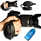 first2savvv new Artificial leather digital camera SLR hand strap grip for Nikon D5300 with card reader