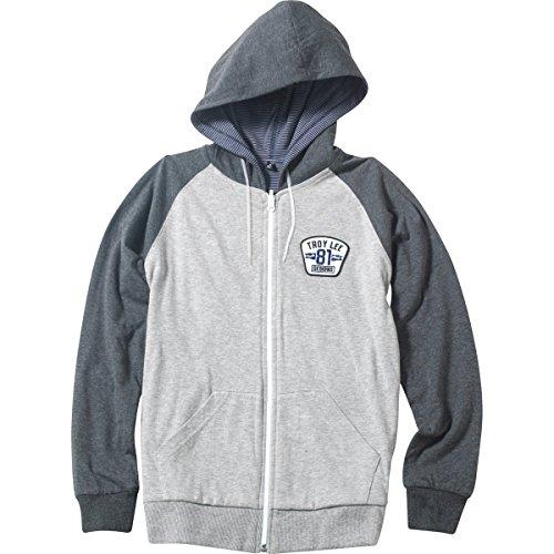 Troy Lee Designs Mens Redstone Reversible Hoody Zip Sweatshirt 2X-Large Heather Gray Lee Sports Sweatshirt