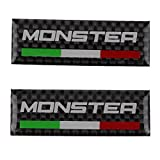 PRO-KODASKIN Motorcycle 3M Carbon Italy Handlebar Clamp Tank Sticker Emblem Decal for Monster 400 600 695 696 796 820 821 1100 1200 S2R S4R
