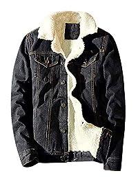 Idopy Winter Fleece Lined Jean Denim Trucker Jacket