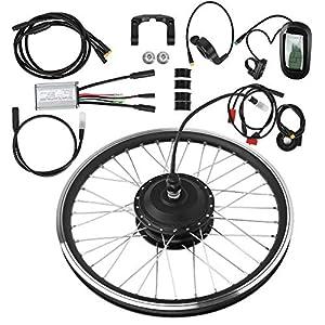 T best Kit di conversione per Bicicletta elettrica, Kit di conversione per mozzo per Bicicletta con Motore per Bicicletta elettrica con Ruota Anteriore 9 spesavip
