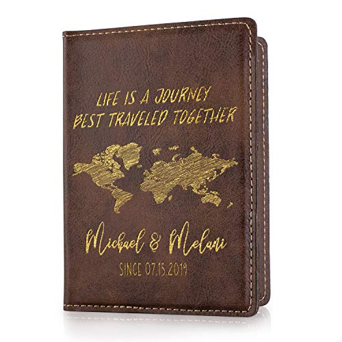 Personalized Passport Holder Cover Customized Wallet Travel Honeymoon Overseas American Passport