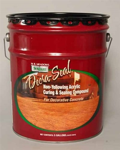 (WR Meadows Decra-Seal Solvent Based Non-Yellowing Acrylic Concrete Sealer 5 Gal Pail 3565005)
