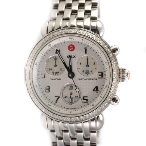 Michele MOP Dial Stainless Steel Chronograph Quartz Ladies Watch ()