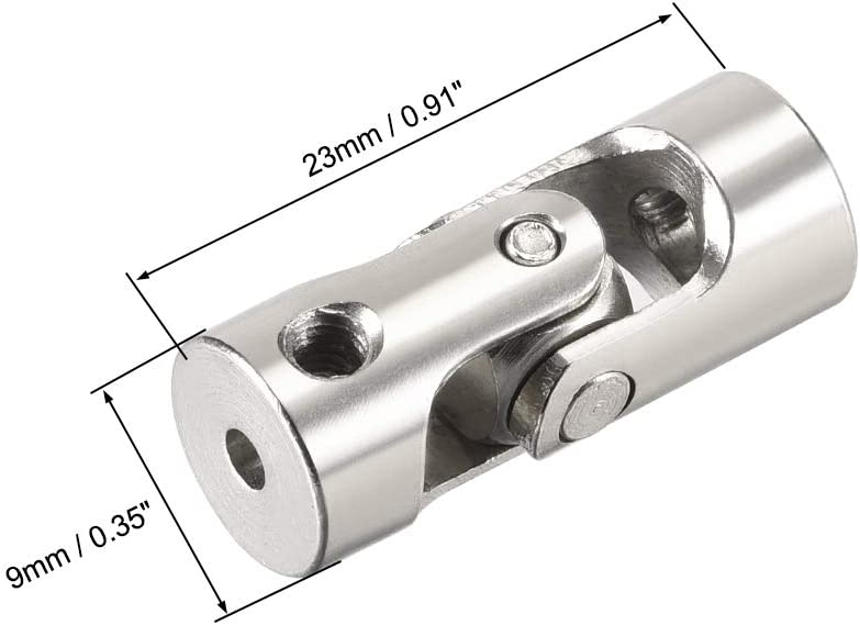 uxcell 2 PCS 2.3mm to 4mm Rotatable Universal Steering Shaft Coupler Motor Connector Joint Coupling L23XD9