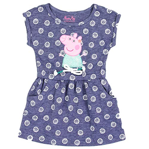 (Peppa Pig Little Girls' Toddler French Terry Dress (4T) Blue)