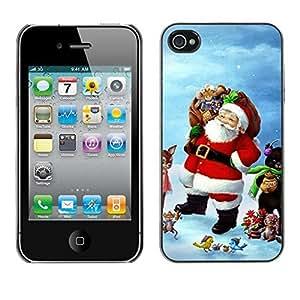 YOYO Slim PC / Aluminium Case Cover Armor Shell Portection //Christmas Holiday Santa Claus Holiday 1050 //Apple Iphone 4