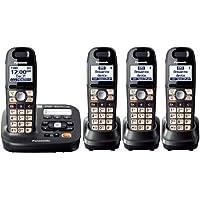 Panasonic KX-TG6592T + 2 KX-TGA659T - 4 Handset Cordless Telephone System 1.9GHz DECT 6.0