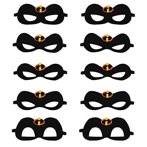 SFVAN The Incredibles 2 Inspired Family Eye Masks Party Supplies(10 Pieces) ()