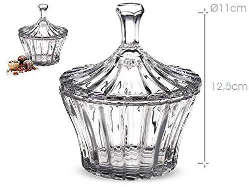 –Bombonera de cristal punta–12,5cm AVENUELAFAYETTE