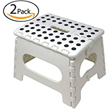 Minel Folding Step Stool 2 Pack - WHITE