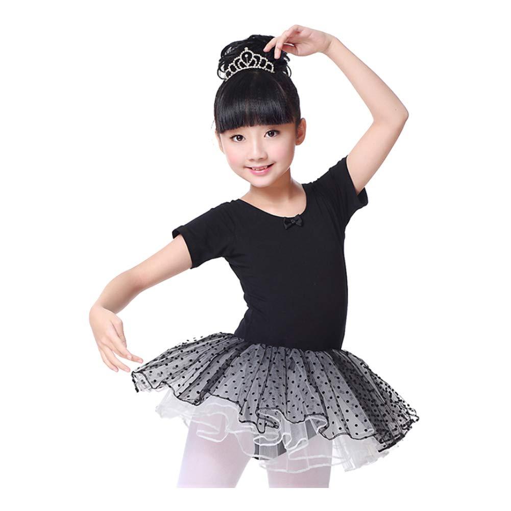 Janjunsi Girls Ballet Dress Tutu Skirted Dance Gymnastics Leotard Dancewear