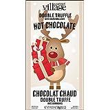 Gourmet du Village Hot Chocolate Mini, Double Truffle with Marshmallows Retro Reindeer, 35g