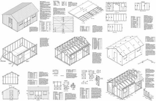 Saltbox Storage Shed Plans (12' X 16' Saltbox Style Storage Shed Project Plans -Design #71216, Model: 71216, Home/Garden & Outdoor)