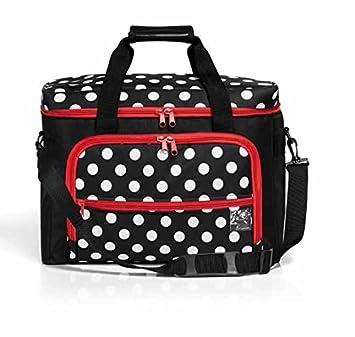 Prym - Aguja de máquina de Coser Bolsa Lunares, Negro/Rojo/Blanco: Amazon.es: Hogar
