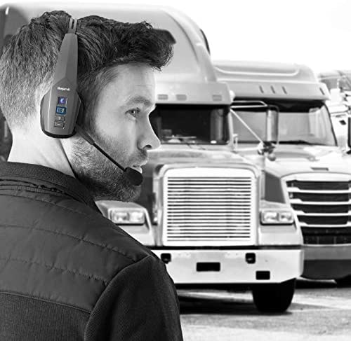 BlueParrott B350-XT Noise Cancelling Bluetooth Headset – Updated Design with Industry Leading Sound and Improved Comfort, Hands-Free Headset with Expanded Wireless Range and IP54-Rated Protection