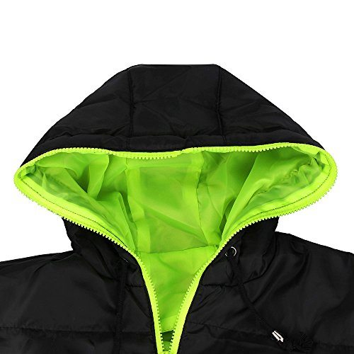 Outerwear Men Warm Down Jacket Boy Padded Thick Casual Hooded Jacket Overcoat Hoodie Green Winter Warm HARRYSTORE Coat Parka Casual Slim 7xqfd47Y