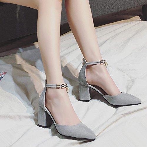 SHOESHAOGE Shoes Étudiants Heel L'High Sandales Femmes Chaussures Chaussures Épais Avec EU40 Chaussures rqwrC1xE
