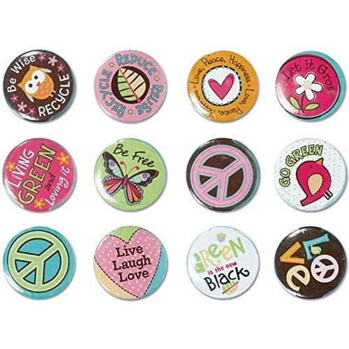 Hippie Chick Buttons - 7