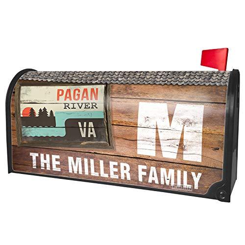 NEONBLOND Custom Mailbox Cover USA Rivers Pagan River - Virginia -