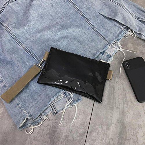 Bag Leather Leather Silver Bag Women Zipper Solid Chest Shoulder Vintage Pure Shoulder Vintage Messenger Black SOMESUN Messenger Color Bag gw15a